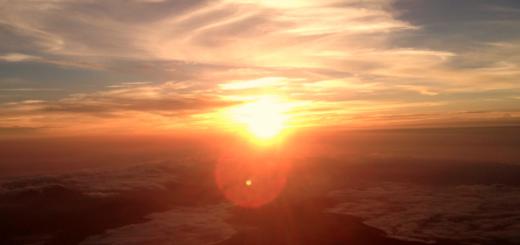 Три разлома в земле и восход солнца с запада